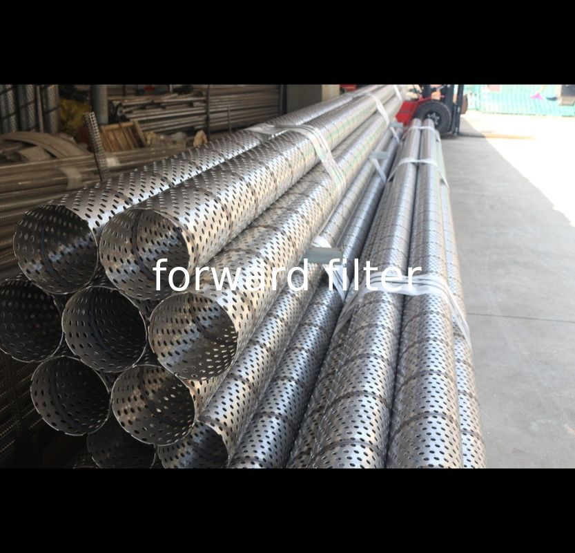 Industrial Carbon Perforated Stainless Tube , Custom Length Perforated Metal Tube